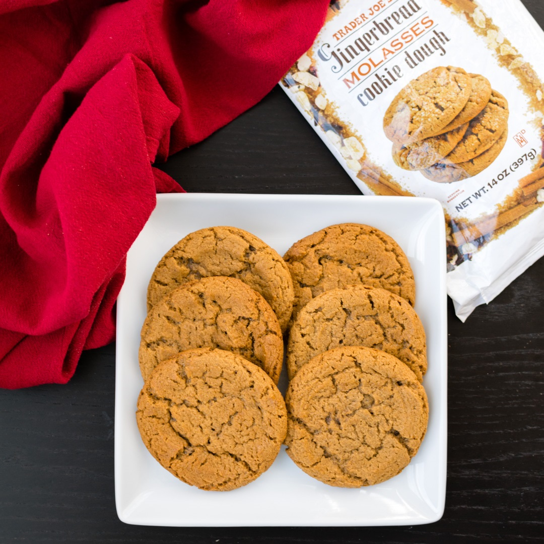 Trader Joe's Cookie Dough (Review of Dairy-Free Versions) - Gingerbread Molasses seasonal pictured