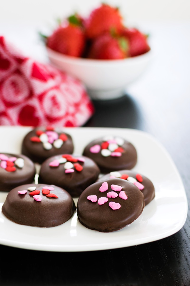 Strawberry Patties Recipe - A Chocolate-Covered Treat that's Pretty in Pink (naturally dairy-free, gluten-free, nut-free, soy-free, vegan - and no food coloring!)