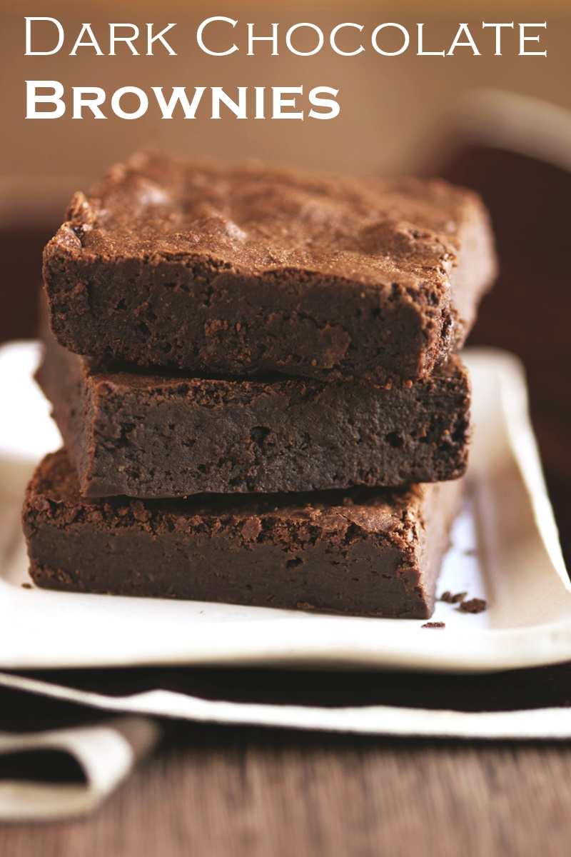 Dairy-Free Dark Chocolate Brownies Recipe with a Rich Chocolate Glaze (options for gluten-free, soy-free, and nut-free)