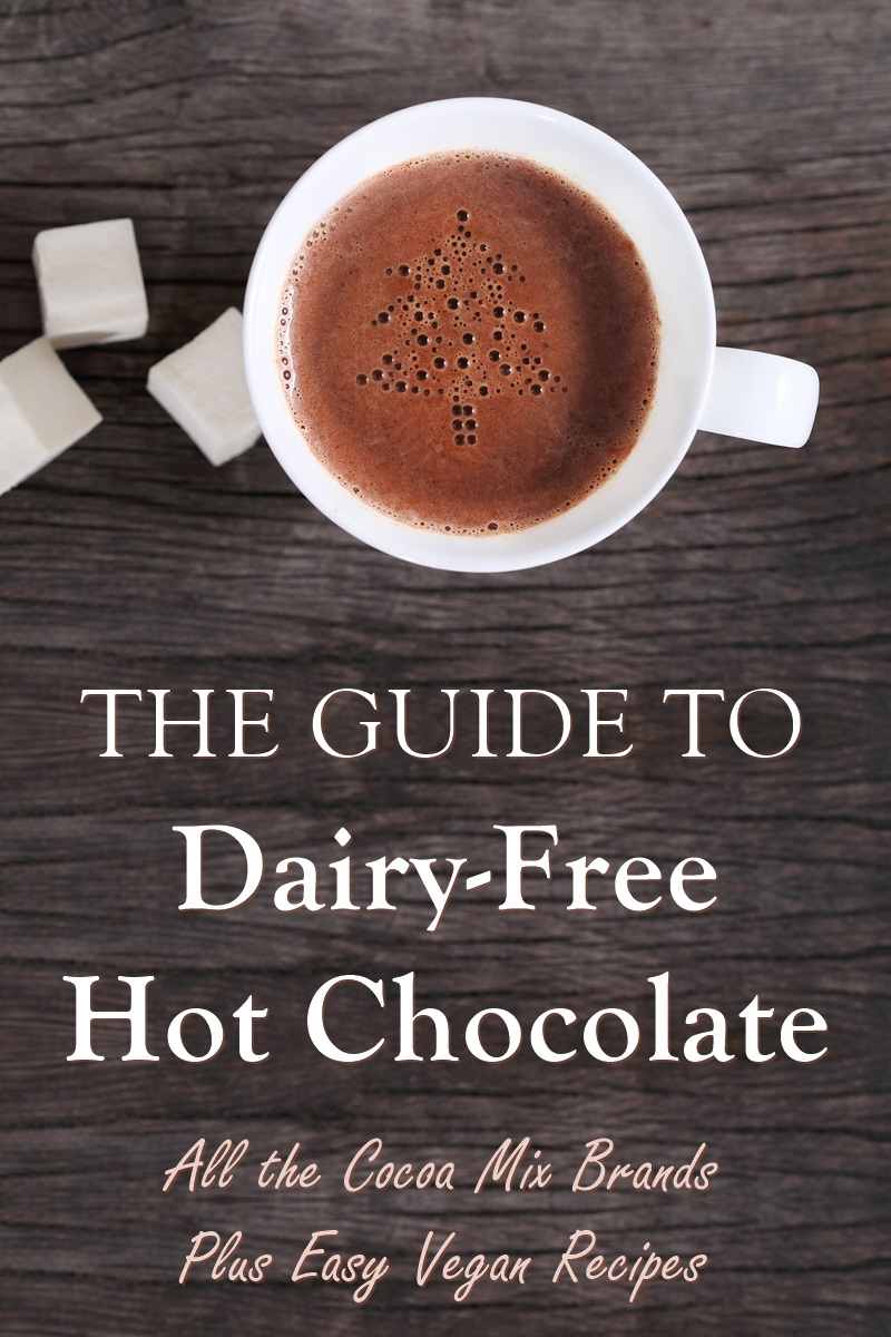 The Complete Guide to Dairy-Free Hot Chocolate and Hot Cocoa (vegan too!). Includes mixes you can buy and recipes!