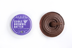Delighted by Dessert Hummus Reviews and Info - dairy-free, vegan, gluten-free, healthier sweet dips! Pictured: Edible Brownie Batter