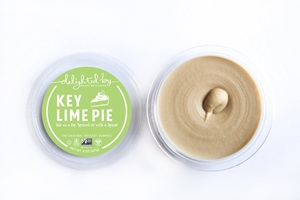 Delighted by Dessert Hummus Reviews and Info - dairy-free, vegan, gluten-free, healthier sweet dips! Pictured: Key Lime Pie