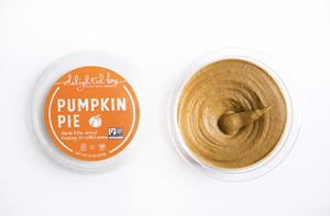 Delighted by Dessert Hummus Reviews and Info - dairy-free, vegan, gluten-free, healthier sweet dips! Pictured: Pumpkin Pie