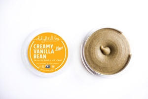 Delighted by Dessert Hummus Reviews and Info - dairy-free, vegan, gluten-free, healthier sweet dips! Pictured: Vanilla
