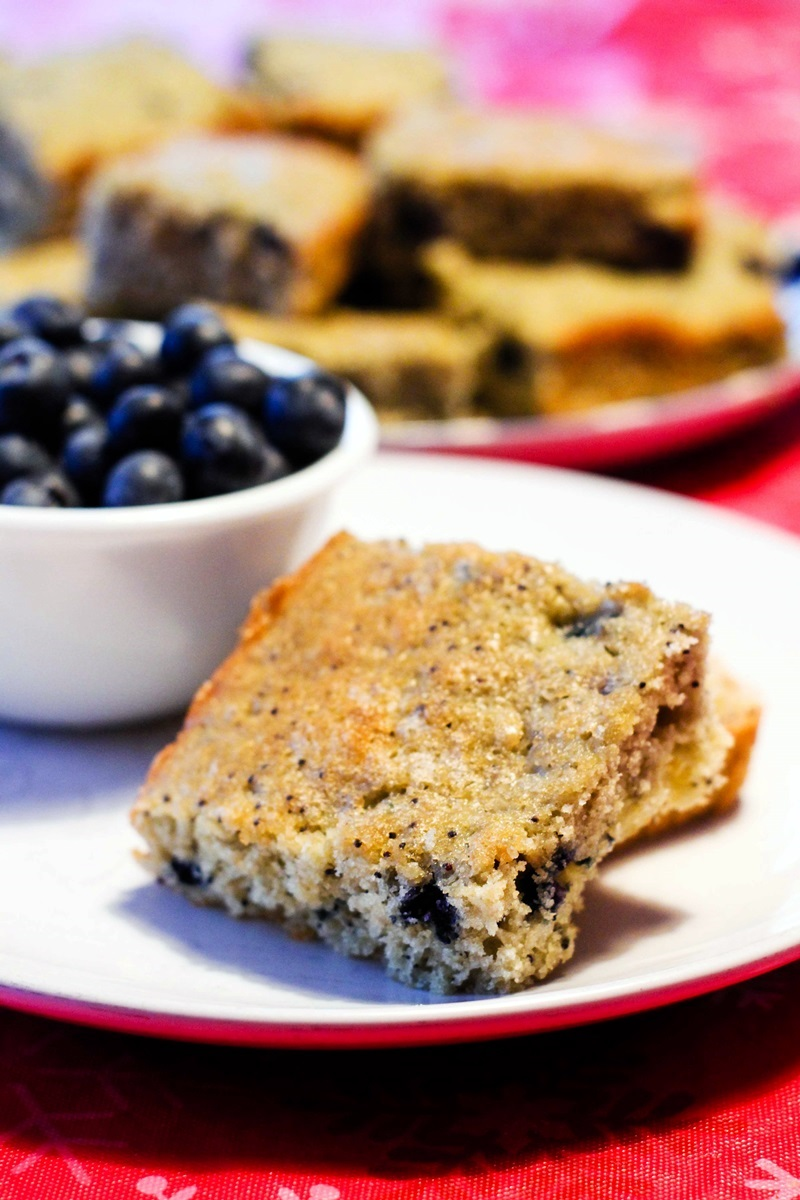 Dairy-Free Blueberry Muffin Bars Recipe - A mom and kid favorite with options for all