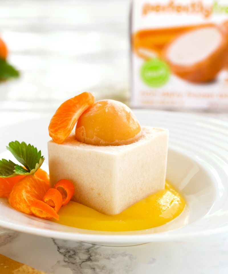 Orange Creamsicle Vegan Semifreddo Recipe - A sweet, creamy, dairy-free, egg-free and gluten-free frozen dessert