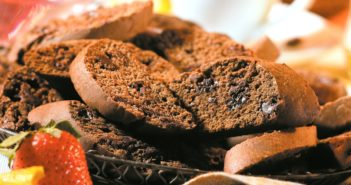 Double Chocolate Biscotti Recipe - naturally dairy free and made with olive oil!