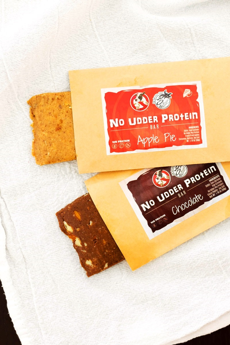 "No Udder Protein Bars Review - dairy-free, gluten-free vegan ""power"" bars with clean ingredients"