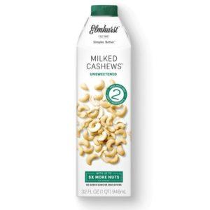 Elmhurst Milked Nuts Reviews and Info - Dairy-Free, Vegan, Simple, From-Scratch Cashew, Almond, Hazelnut, and Walnut Milks