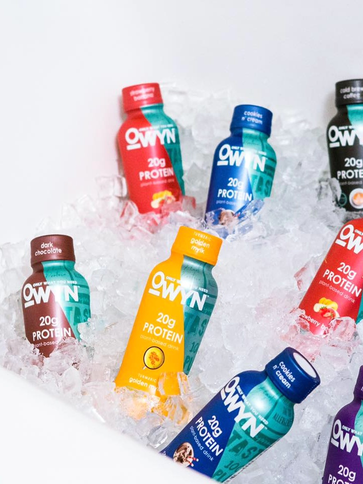 OWYN Plant-Based Shakes with 20 Grams Protein - dairy-free, gluten-free, vegan, and allergy-friendly with clean ingredient lists.
