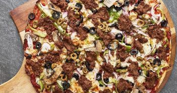 Fresh Brothers Pizza chain in Southern California offers dairy-free cheese, vegan pizzas, salads, and even vegan desserts! Gluten-free options too.