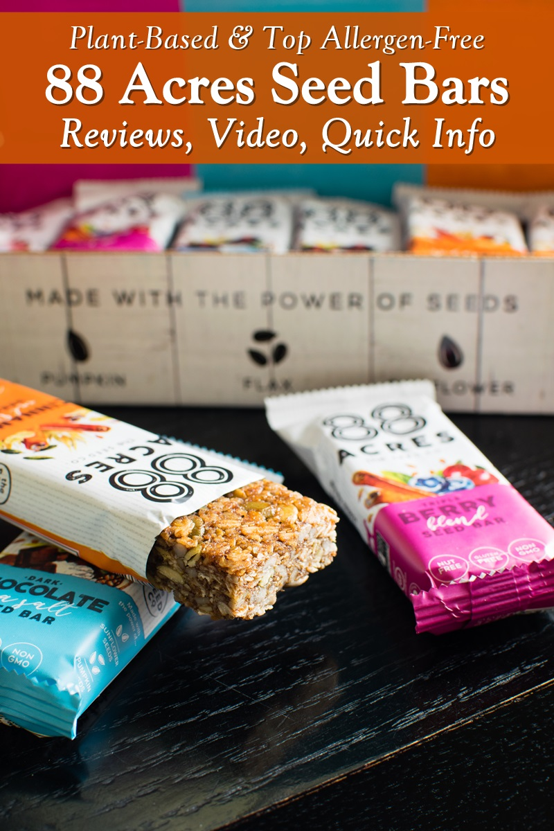 88 Acres Seed Bars - Handcrafted in a Top Allergen-Free Facility! Available in several dairy-free, gluten-free, nut-free, plant-based flavors. Reviews, Unboxing Video, and Highlights here ...