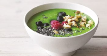 Avocado Kale Berry Smoothie Bowl Recipe (dairy-free & plant-based version)