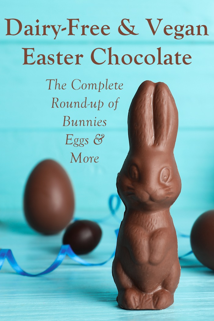 The Dairy-Free Chocolate Easter Bunny and More Round-Up - vegan with gluten-free and allergy-friendly options - including creme-filled eggs and white chocolate treats!