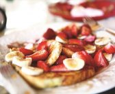 Cinnamon Grilled French Toast with Strawberry-Banana Sauce