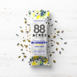 88 Acres Bars Reviews and Info - Vegan, Gluten-Free, and Top Allergen Free, made with real ingredients. Pictured: Blueberry Lemon