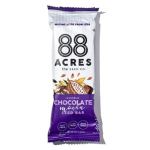 88 Acres Bars Reviews and Info - Vegan, Gluten-Free, and Top Allergen Free, made with real ingredients. Pictured: Double Chocolate Mocha