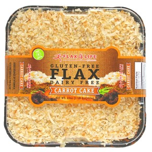 Flax4Life Cakes Reviews and Info. These healthier desserts are gluten-free, dairy-free, nut-free, frosted and decorated! Available in the bakery or online. Pictured: Carrot Cake