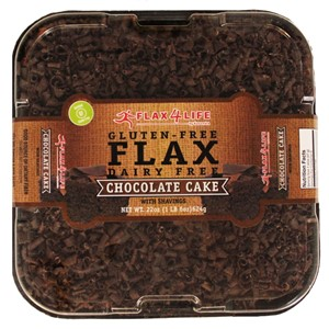 Flax4Life Cakes Reviews and Info. These healthier desserts are gluten-free, dairy-free, nut-free, frosted and decorated! Available in the bakery or online. Pictured: Chocolate Cake
