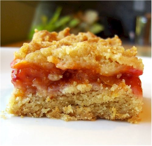 Dairy-Free Apricot Raspberry Crumble Bars Recipe made with Fresh Summer Fruit - also nut-free and soy-free