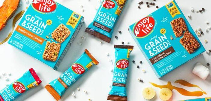 Enjoy Life Crispy Grain & Seed Bars for Sweet, Allergy-Friendly Snacking