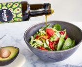 Avocado Salad with Fresh Strawberries, Zucchini, and Basil