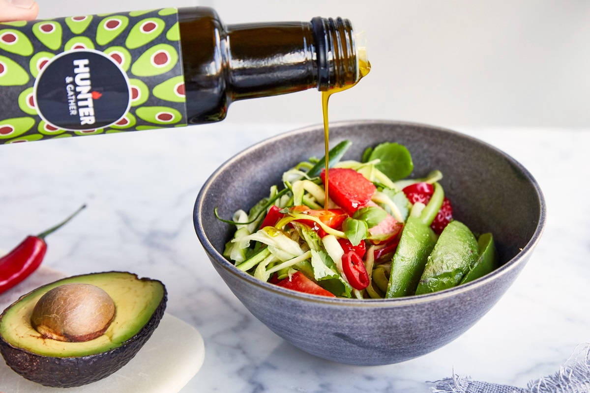 Paleo-Friendly Triple Avocado Salad Recipe with Fresh Zucchini, Strawberries, and Basil (Dairy-Free; Vegan optional)