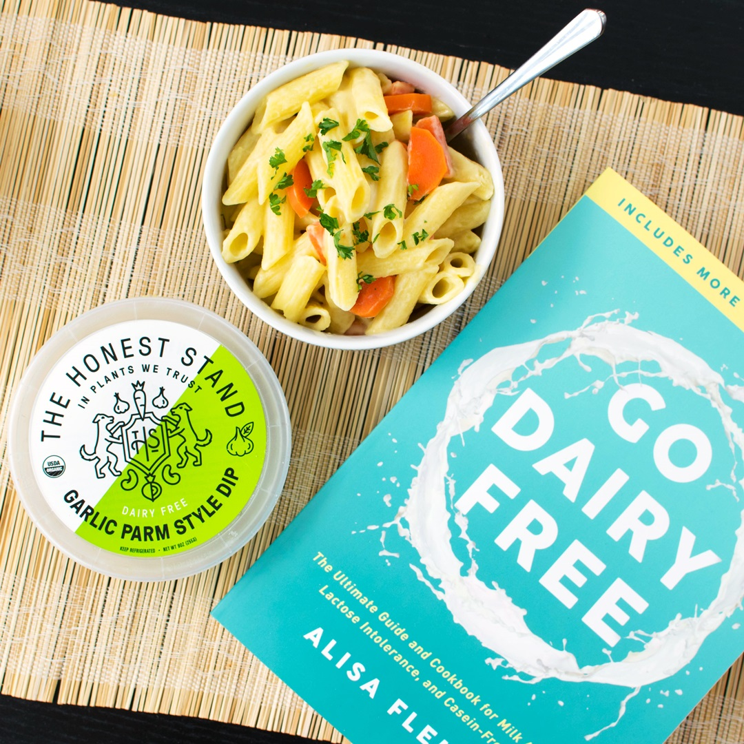 The Honest Stand Dairy Free Dips in Cheddar and Parmesan flavors - all vegan and nutritious! full review with ingredients, availability, tasting notes, and more
