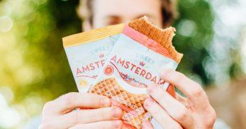 Sweet Amsterdam Stroopwafels Reviews and Info - Organic, Dairy-Free, Gluten-Free Authentic Taste. Three Flavors: Organic Real Honey, Caramel & Cinnamon, Caramel & Sea Salt