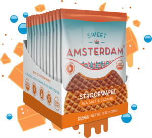 Sweet Amsterdam Stroopwafels Reviews and Info - Dairy-Free, Gluten-Free. Pictured: Sea Salt and Caramel