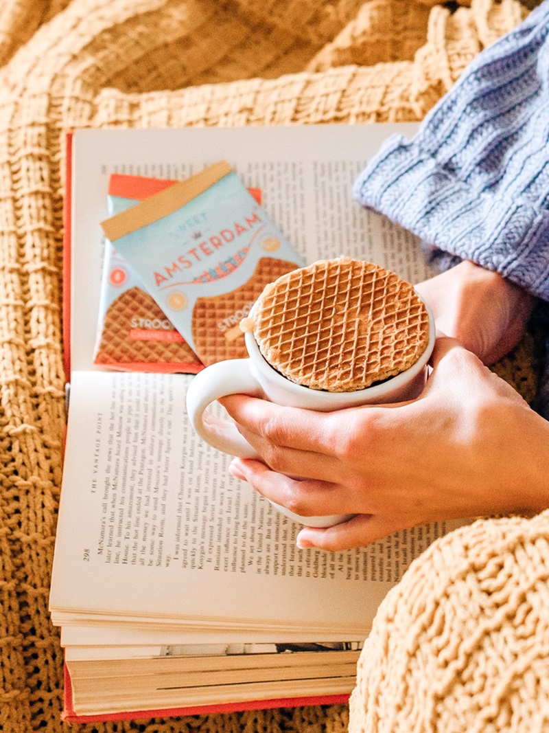 Sweet Amsterdam Stroopwafels Reviews and Info - Organic, Dairy-Free, Gluten-Free Authentic Taste. Three Flavors: Organic Real Honey, Caramel & Cinnamon, Caramel & Sea Salt