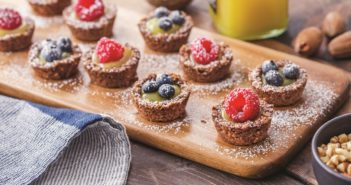 Mini Pecan Lemon Berry Tarts