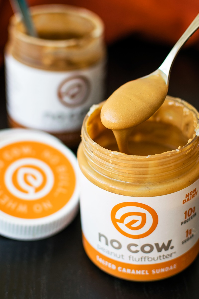 No Cow Fluffbutter (Review) - Dairy-free, High-Protein, Low-Glycemic, Vegan, and Gluten-Free Peanut and Almond Butter Spreads in Flavors