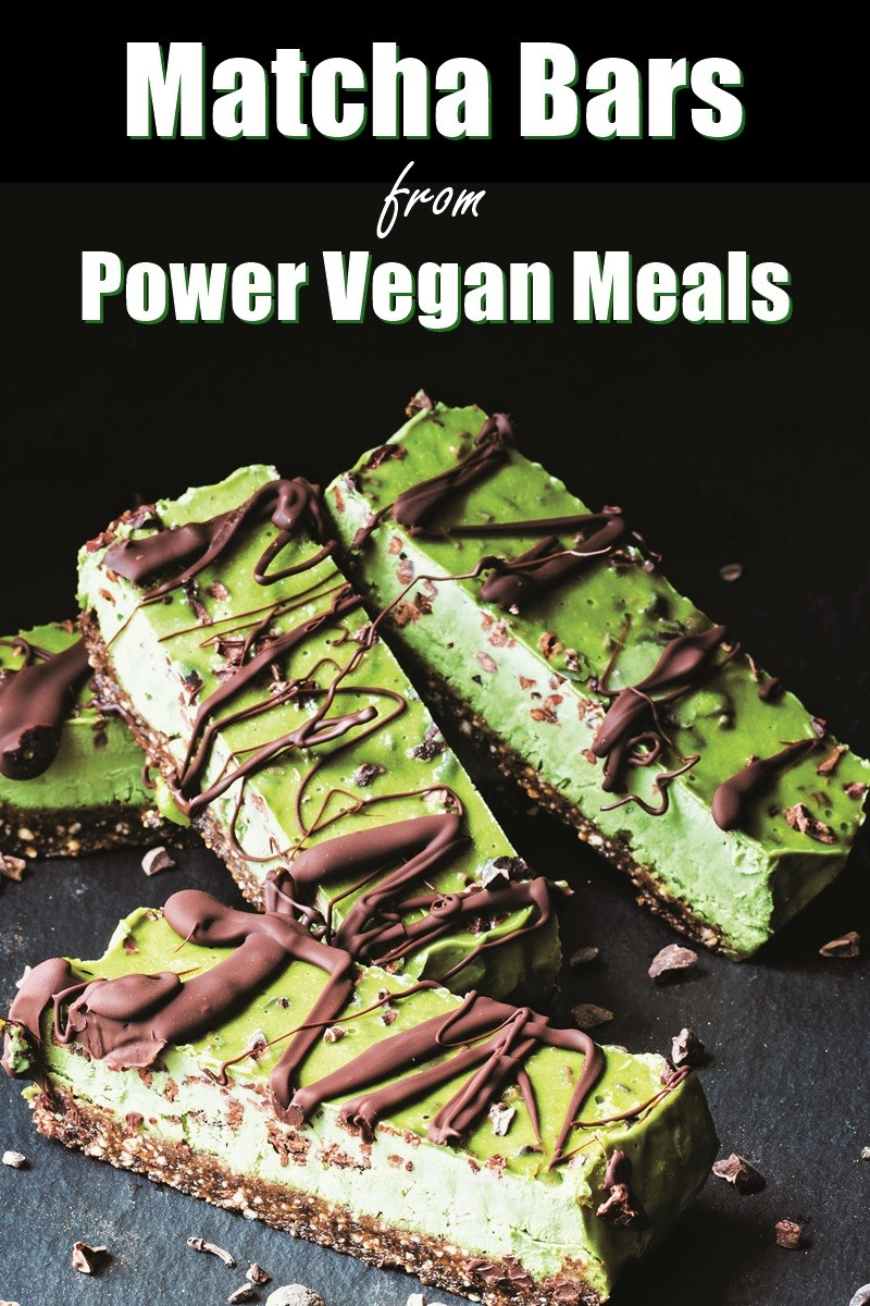 Vegan Matcha Power Bars Recipe - A Dessert worthy of Breakfast! Also gluten-free, grain-free and optionally paleo #powerbars #veganbreakfast