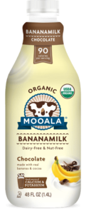 Mooala Bananamilk Reviews and Information - dairy-free, nut-free, soy-free, vegan and made with real bananas. Pictured: Chocolate Bananamilk