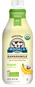 Mooala Bananamilk Reviews and Information - dairy-free, nut-free, soy-free, vegan and made with real bananas. Pictured: Original Unsweetened Bananamilk