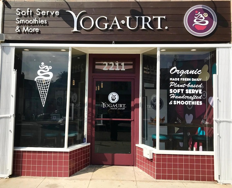 Yoga-urt Organic Cafe Opens a Second Dairy-Free Soft Serve Shop - vegan, plant-based, gluten-free, soy-free, probiotic rich frozen yogurt created by a soft-serve guru.