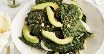Miso Kale Caesar Salad Recipe - a light, healthy plant-based meal with protein options. Dairy-free, gluten-free, and darn close to paleo