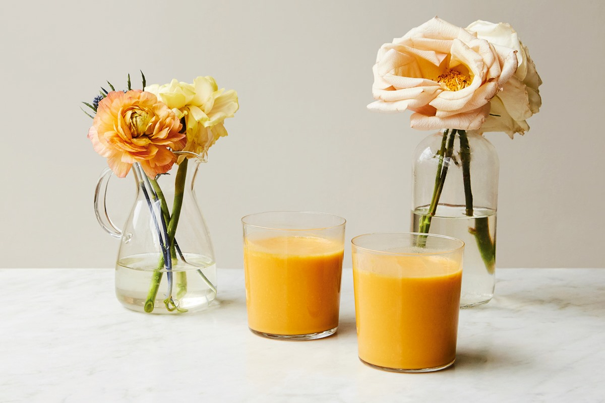 Sweet Potato Peach Smoothie Recipe by Chef Candice Kumai - healthy and dairy free!