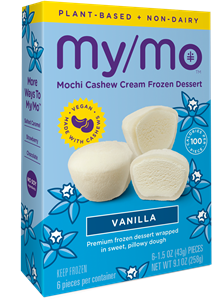 My/Mo Dairy-Free Mochi Ice Cream Reviews and Information - made with Cashew Cream.