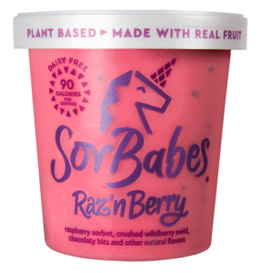 Sorbabes Sorbet Reviews and Info (Decadent Dairy-Free Sorbets in Fruity, Creamy, and Creative flavors). Pictured: Raz'n Berry
