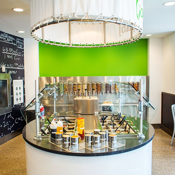 Yogurt Lab is a Minnesota franchise that offers several dairy-free and vegan flavors