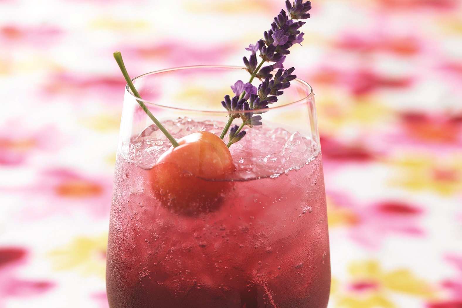 Cherry Lavender Spritzers Recipe - a fresh summer beverage that's naturally dairy-free and vegan, optionally paleo