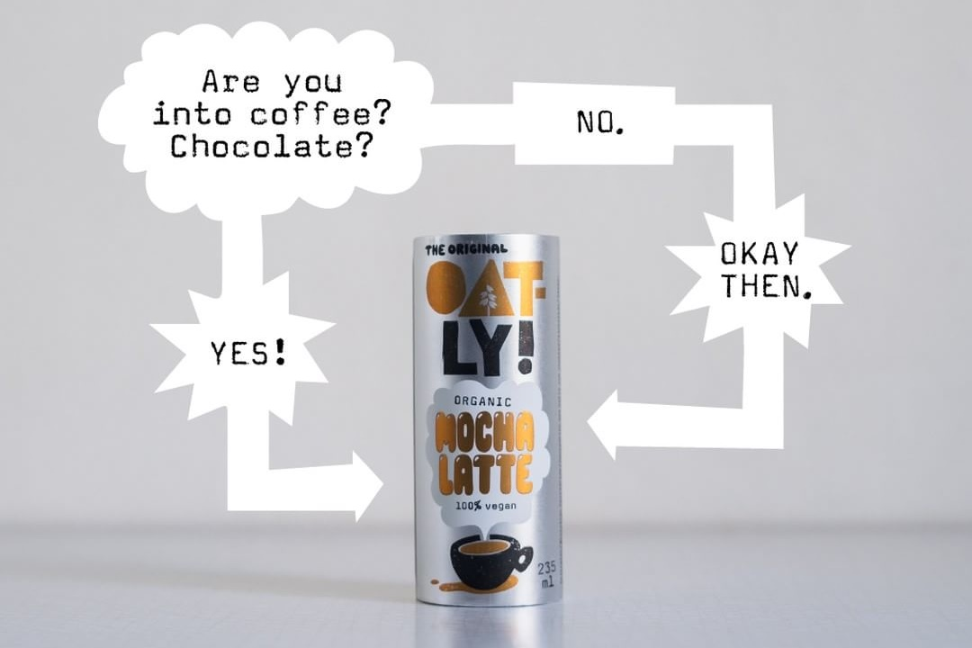 10 Cool, Creamy Dairy-Free Coffee Drinks for on the Go. (new Oatly Lattes pictured)