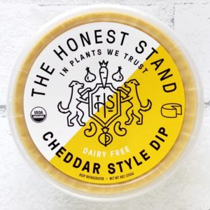 The Honest Stand Reviews and Info - dairy-free, vegan, cheesy, creamy dips (also great as sauces) Pictured: Cheddar