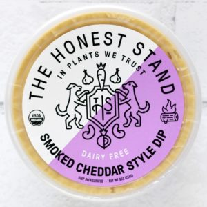 The Honest Stand Reviews and Info - dairy-free, vegan, cheesy, creamy dips (also great as sauces) Pictured: Smoked Cheddar