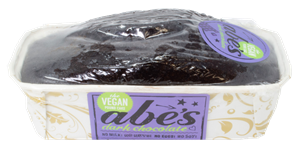 Abe's Vegan Pound Cakes Reviews and Information - dairy-free, egg-free, nut-free, vegan, and in EIGHT flavors. Pictured: Dark Chocolate