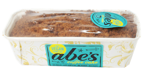 Abe's Vegan Pound Cakes Reviews and Information - dairy-free, egg-free, nut-free, vegan, and in EIGHT flavors. Pictured: Coffee Cake