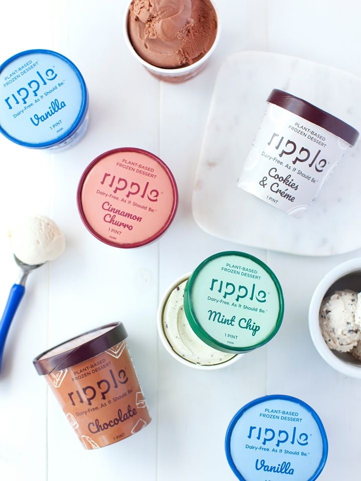 The Best Dairy-Free Ice Cream Pints that You Can Buy at the Grocer (all vegan, many gluten free). Pictured: Ripple Non-Dairy Frozen Dessert