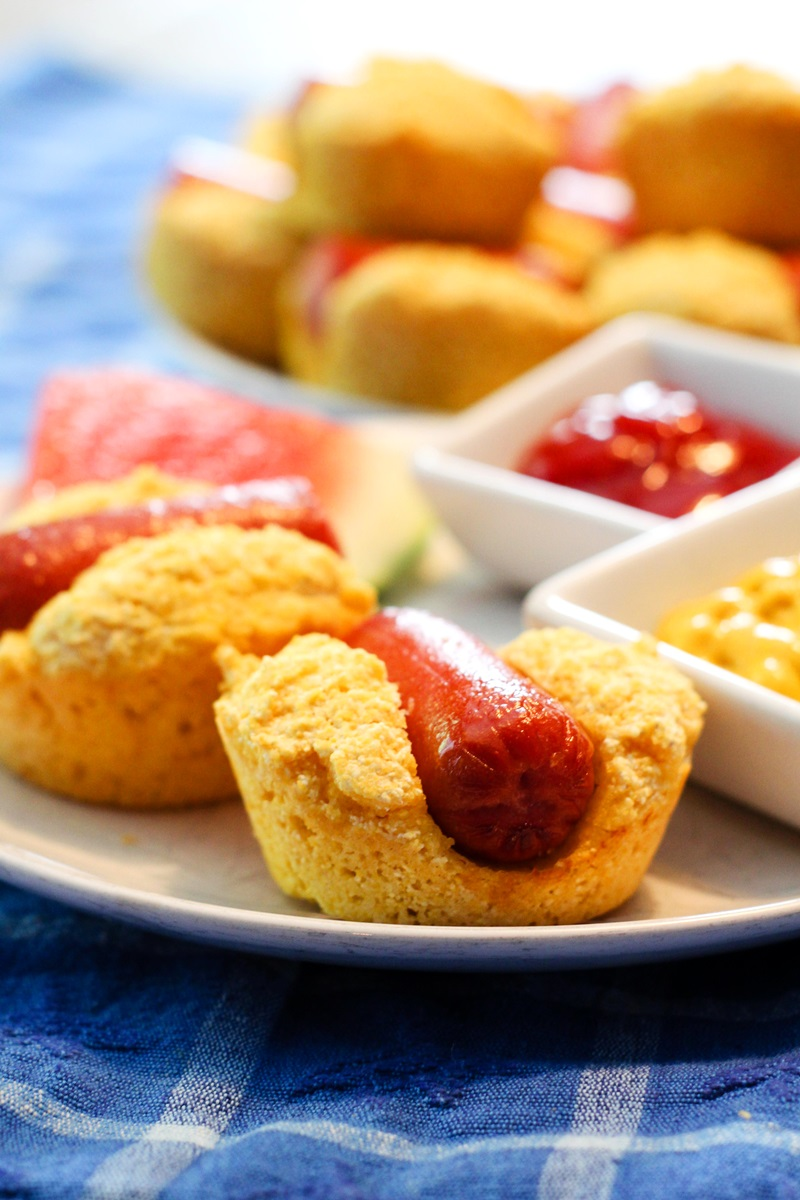 Corn Dog Muffins! Dairy-Free Recipe for Kids Lunch or Snack (with Egg-Free & Vegan options)